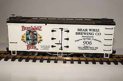 USA Trains Bear Whiz Beer #906 G-Scale Refrigerator Car Metal Wheels Used C-8