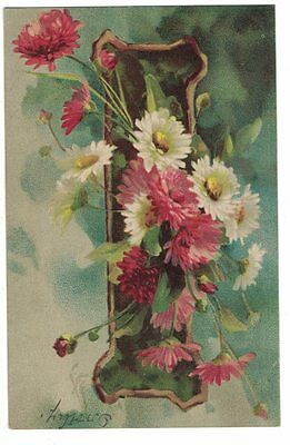 0516I   A/s Catherine Klein Vintage Pc Daisies And Carnations