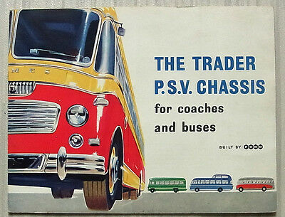 FORD TRADER PSV BUS COACH CHASSIS Sales Brochure Feb 1959 #PSV/L6642/259