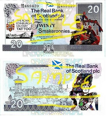 Special Edition Novelty Scottish Edinburgh Tattoo Smakeroonies Bank Notes