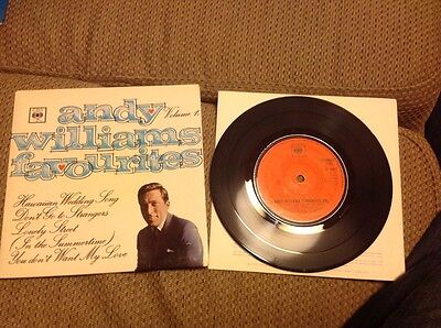 "Andy Williams Favourites Vol 1 four track ep 7"" excellent condition"