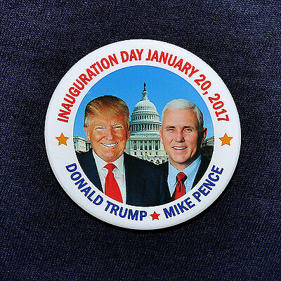 2016 Donald Trump for President 2016 Mike Pence Inauguration Day Button Pin