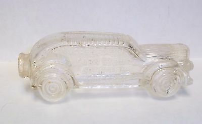 2 - Vintage Glass Candy Containers Train & Car