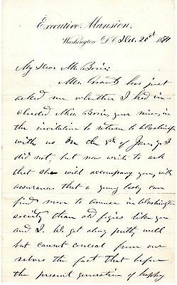 Ulysses S. Grant - Autograph Letter Signed re/ His Childhood - RR Auction COA