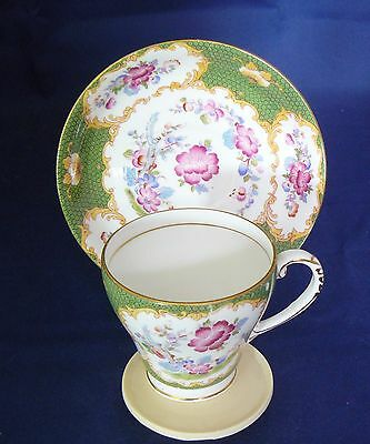 """GRAFTON China - COFFEE CUP & SAUCER - """"CANTON"""" Pattern - Excellent"""