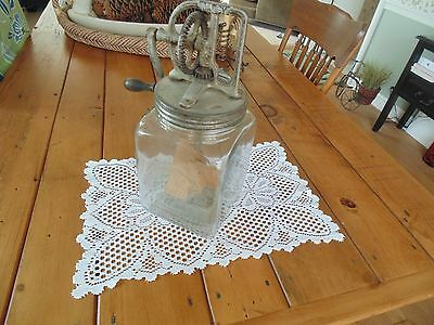 Dazey Butter Churn #40 Embossed Glass Circle Made In America