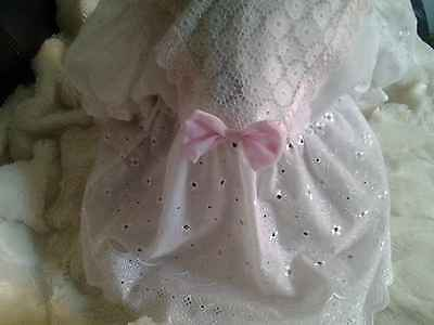 VINTAGE ORIGINAL WHITE BABY DRESS WITH Broderie Anglaise VGCC