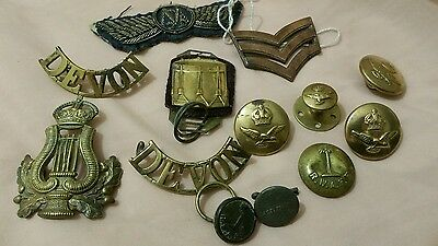 vintage job lot of military  badges and buttons