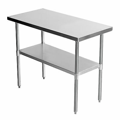 """36""""x24"""" Stainless Steel Commercial Catering Work Bench Kitchen Table 3FTx2FT"""