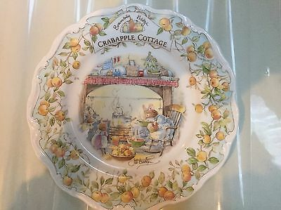 royal doulton brambly hedge Plate Crabtree Cottage