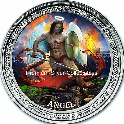 """2016 Isle of Man """"Angel""""  - 1 Ounce Pure .999 Silver Coin - Amazing Coin!!!!!"""