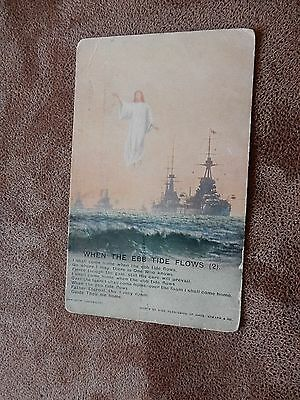 Early Bamforth Song card Postcard- Royal Navy ships