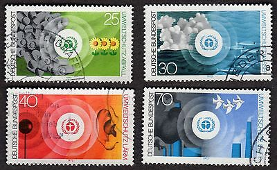West Germany: Protection of the Environment; Complete Fine Used Set