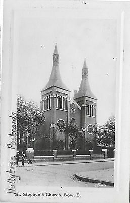 1910 St Stephen's Church demolished? Bow East Isle of Dogs London RP