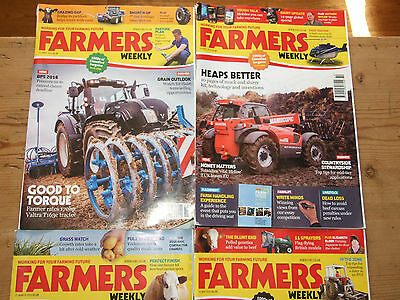 Farmers Weekly Magazines March April May 2016  4 issues