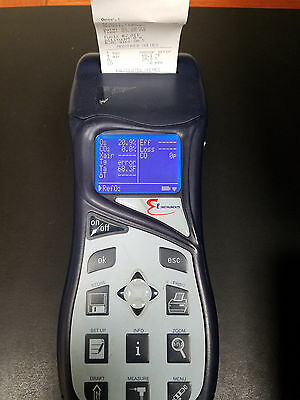 Used BTU1100 COMBUSTION GAS ANALYZER MODEL w/ Built-IN PRINTER!  WORKS Great!