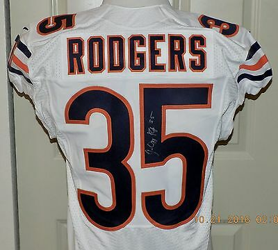 2015 NIKE, 35JACQUIZZ RODGERS, Game Issued, CHICAGO BEARS NFL Jersey Sz40 LINE