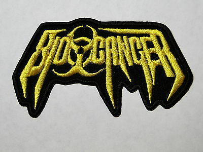 BIO-CANCER logo embroidered NEW patch thrash metal
