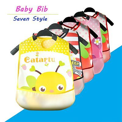 Plastic Pattern Infants Kid Translucent Bib Kids Waterproof Towel Bibs Baby