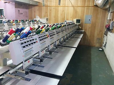 Melco EMC 10/12 Industrial Embroidery Machine