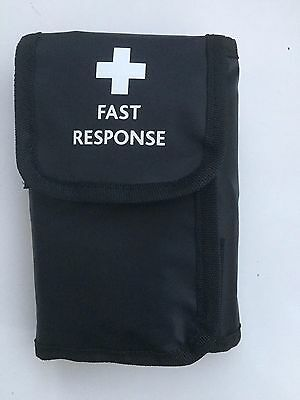 Black Fast Response Wallet Kit With Belt Loop -First Aiders, Security, Paramedic