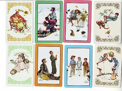 #1 NORMAN ROCKWELL x 8 BEAUTIFUL SWAP/PLAYING CARDS
