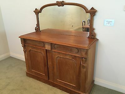Victorian style mirror back sideboard
