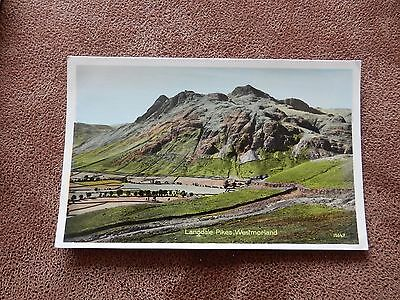 Photo precision Postcard-Langdale Pikes Westmorland -Lake District / Cumbria