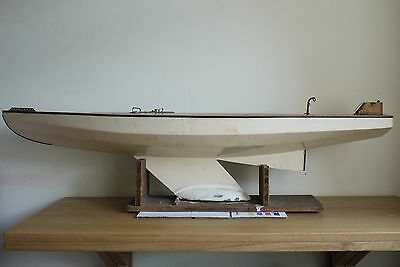 Vintage Model Racing Pond Yacht Marblehead Class 1950s Large 4'Foot Long by 13""