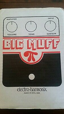 Electro-Harmonix EHX Big Muff PI Distortion / Sustainer  Guitar Effects Pedal