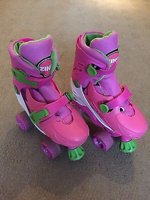 Roller Boots Zinc adjustable quad skates Childrens size 13-3