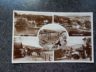 Valentines Real Photo postcard- Grange-over-sands multiview - Cumbria