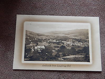 1911 FR Postcard- Ambleside from Loughrigg Fell - Cumbria Lake District