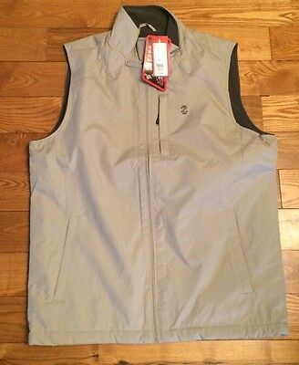 NWT Mens Stone IZOD Full Zip Fleece Lined Vest Size Small S