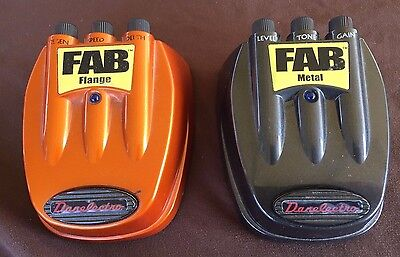 Danelectro FAB Lot Of 2 Guitar Effects Pedals Flange Metal Nice