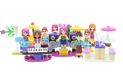 8pcs Friends Custom Minifigures, Including: Livi, Andrea, Olivia, Noah fit lego