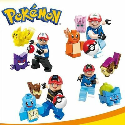 NEW2016 4pcs Pokemon Go minifigures Pikachu Blastose Bulbasaur fits Lego