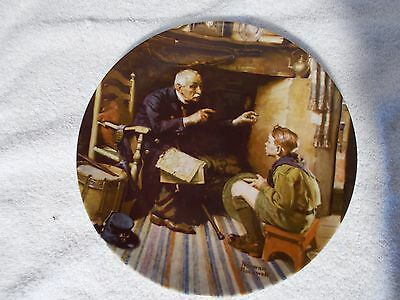 Collector's Plate Norman Rockwell Heritage Collection The Veteran XLNT