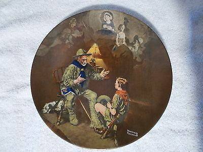 Collector's Plate Norman Rockwell Heritage Collection The Old Scout XLNT