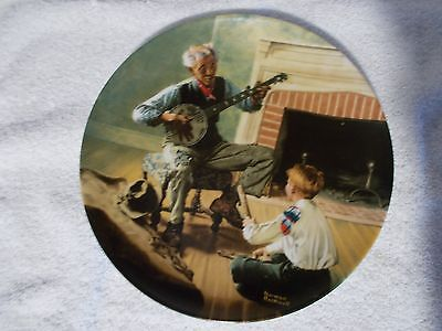 Collector's Plate Norman Rockwell Heritage Collection The Banjo Player XLNT