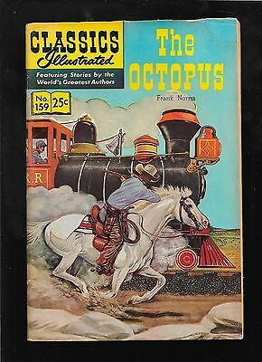 Classics Illustrated 159 The Octopus  HRN 166 3rd  printing good 2.0