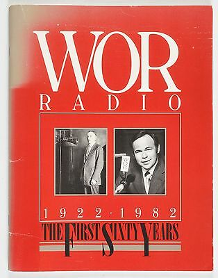 WOR Radio The First Sixty Years 1922-1982 Paperback Book