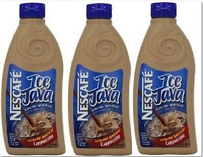 Nescafe Ice Java Cappuccino 3 Bottles X 470Ml Canadian Classic