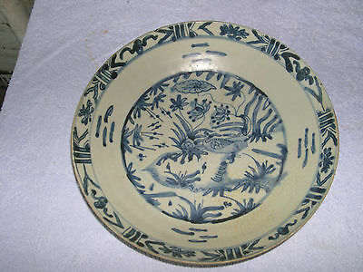 Fantastic Chinese Ming 16Th-17Th Century Large Swatow Charger Plate