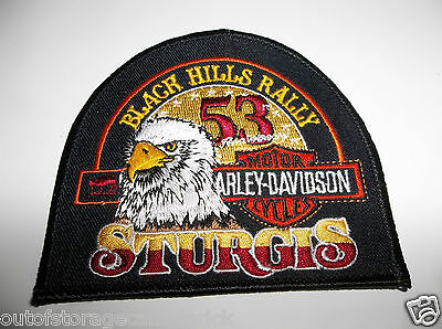 Black Hills Rally Sturgis 53th Anniversary Harley Davidson Motorcycle Patch NEW