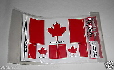 Canada Flag Vinyl Permanent Sticker Decal for Cars, Trucks, Vans & Luggage - NEW