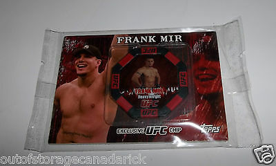 2010 Topps No. 20 Frank Mir Exclusive UFC Poker Chip Card - Brand New RARE