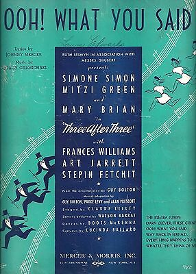 """Hoagy Carmichael """"WALK WITH MUSIC"""" Johnny Mercer 1939 FLOP Tryout Sheet Music"""