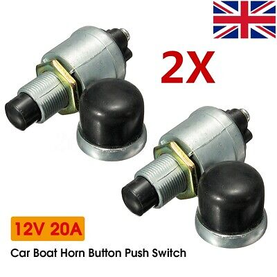 12V 20A Waterproof Car Boat Bike Switch Push Button Horn Engine Start Heavy Duty