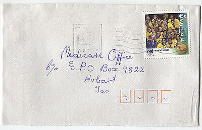 AUSTRALIA  2001: small commercial cover with 45c Olympics (Hockey) - (2733)